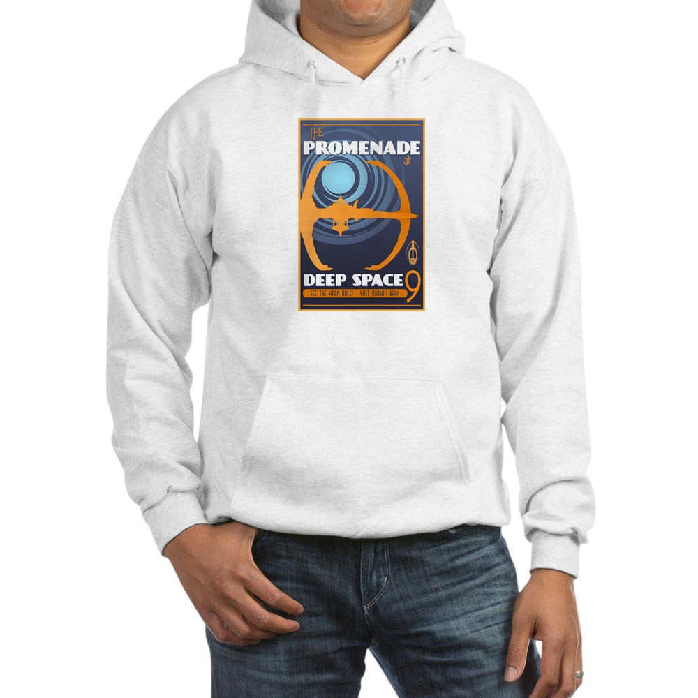 The Promenade at DS9 Vintage Travel Poster Hooded Sweatshirt