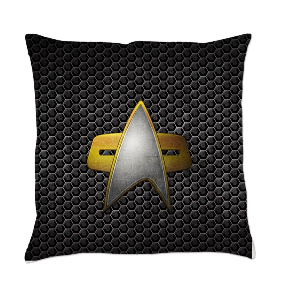 Grunge Starfleet Comm Badge Everyday Pillow