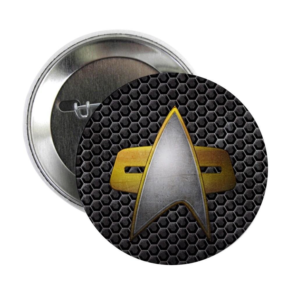 Grunge Starfleet Comm Badge 2.25