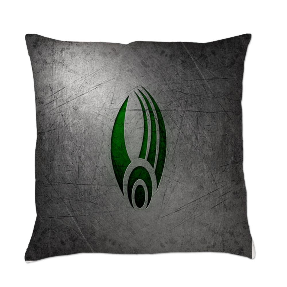 Metallic Borg Insignia Everyday Pillow