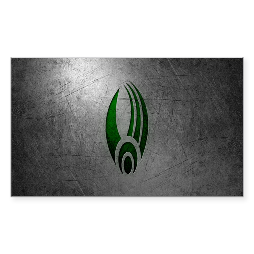 Metallic Borg Insignia Rectangle Sticker