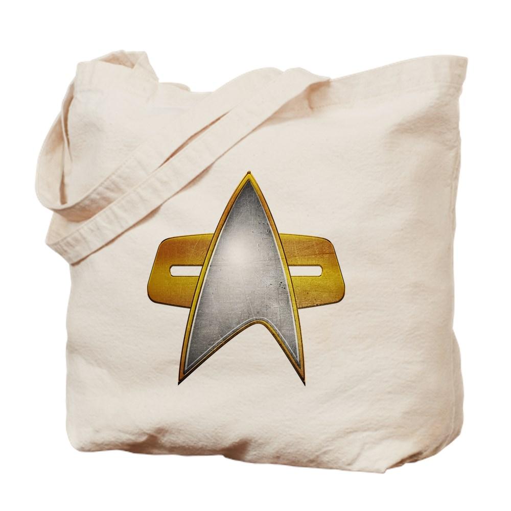 Distressed Starfleet Comm Badge Tote Bag