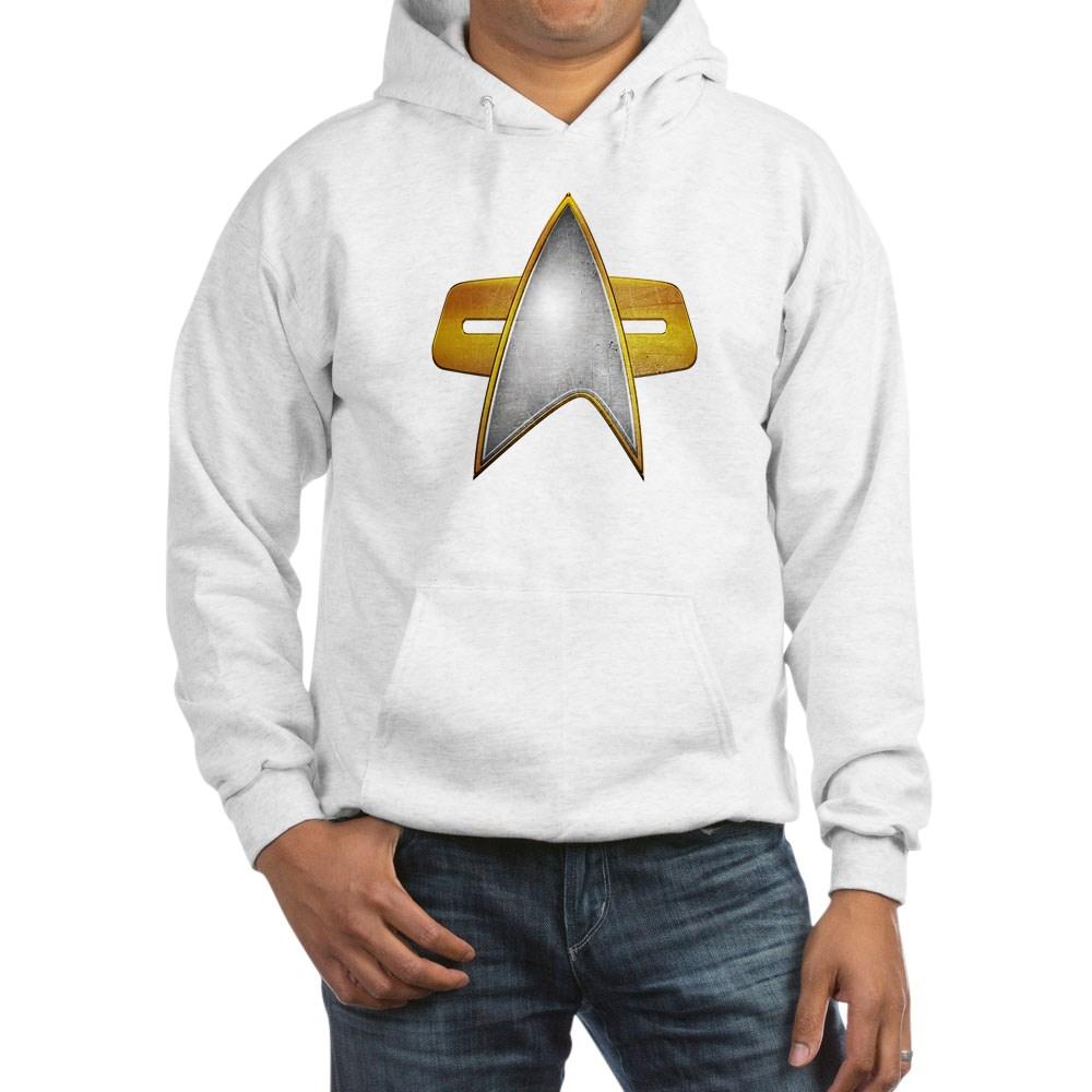 Distressed Starfleet Comm Badge Hooded Sweatshirt