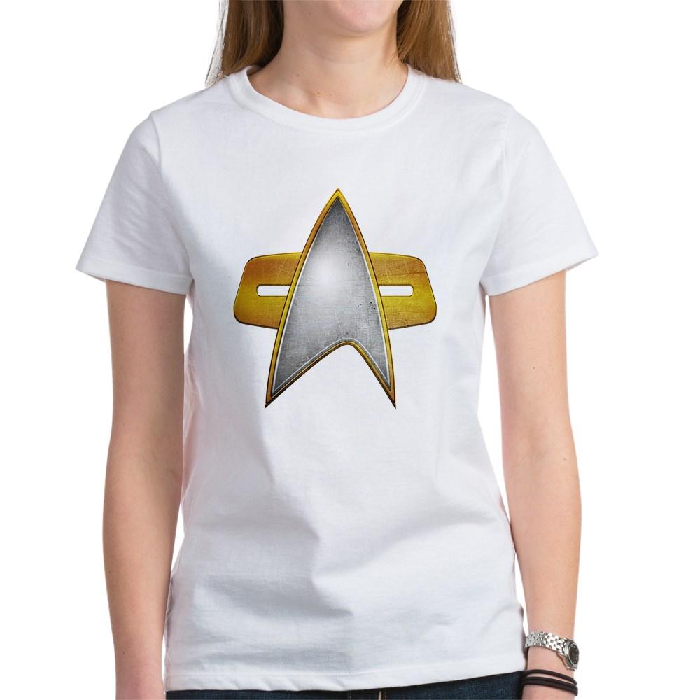 Distressed Starfleet Comm Badge Women's T-Shirt