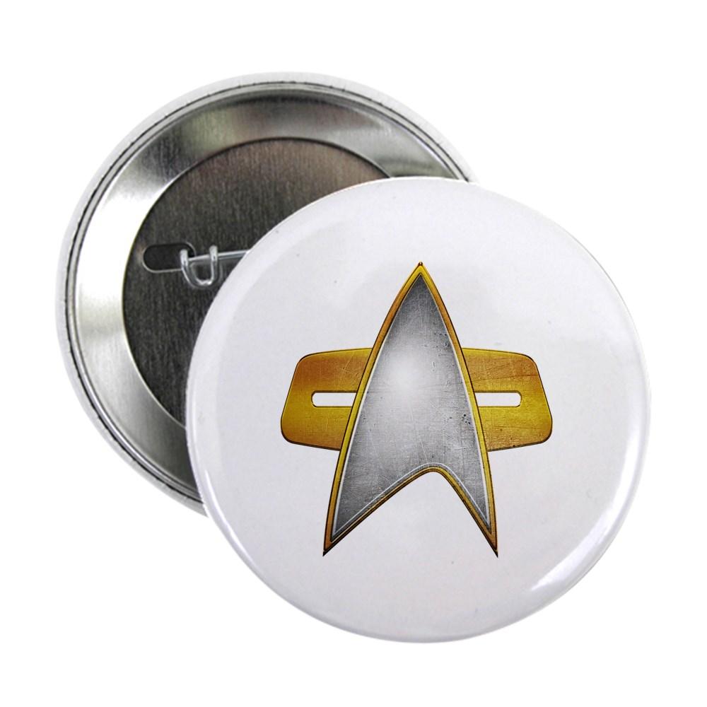 Distressed Starfleet Comm Badge 2.25