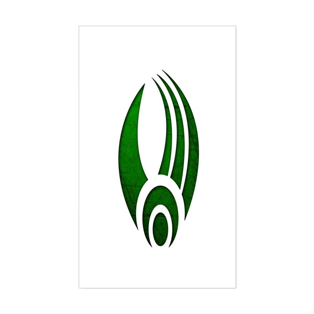 Distressed Borg Insignia Rectangle Sticker