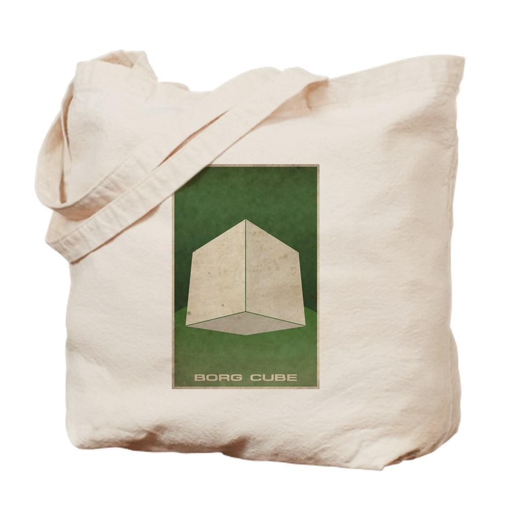 Minimal Borg Cube Poster Design Tote Bag