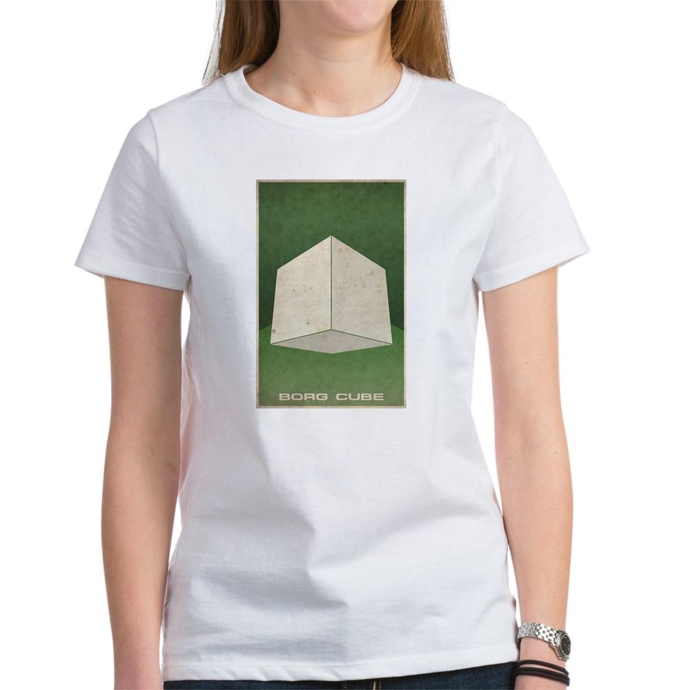 Minimal Borg Cube Poster Design Women's T-Shirt