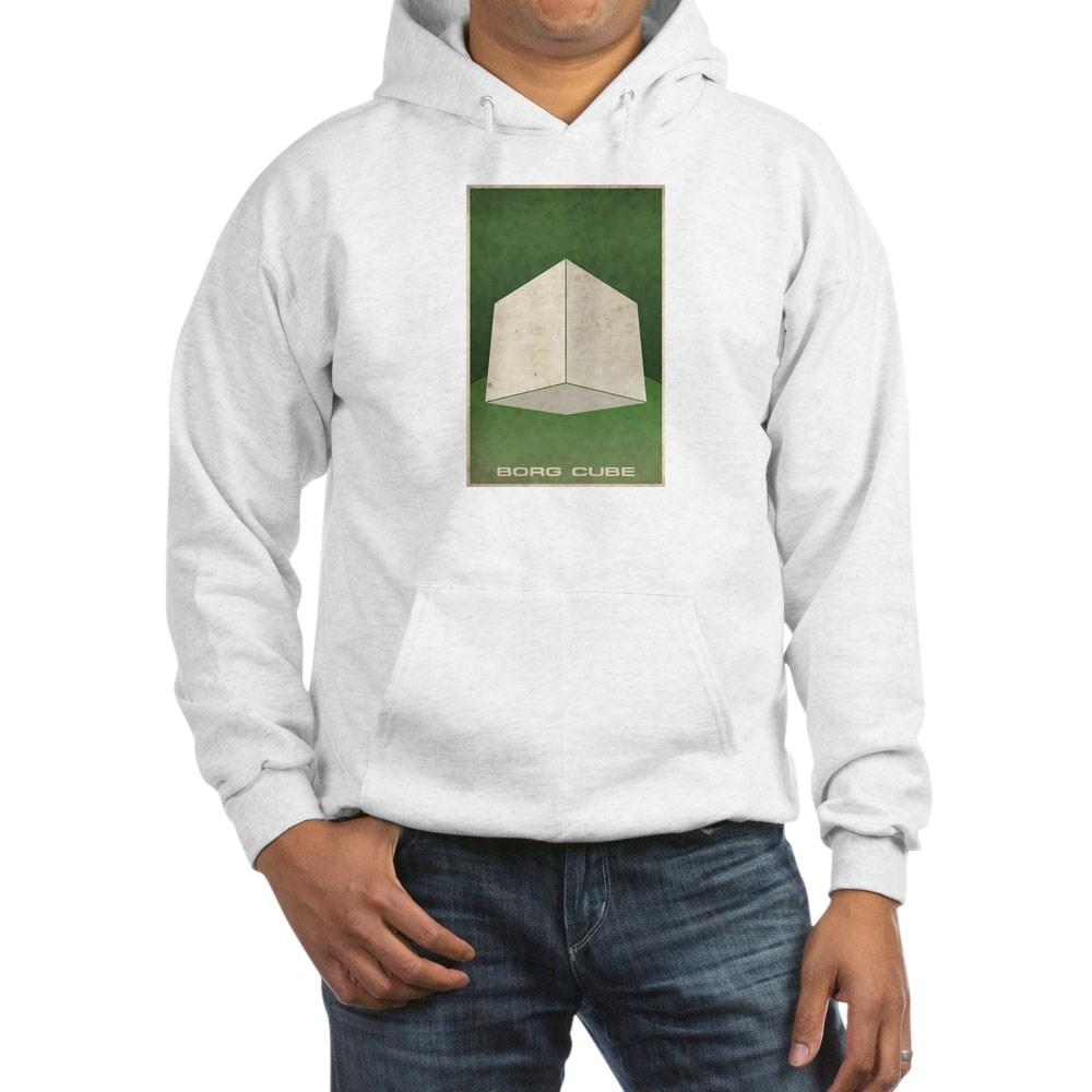 Minimal Borg Cube Poster Design Hooded Sweatshirt