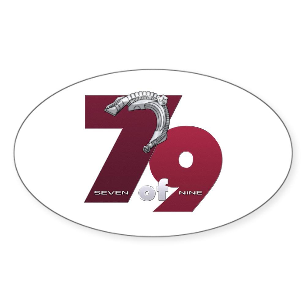 Seven of Nine Oval Sticker