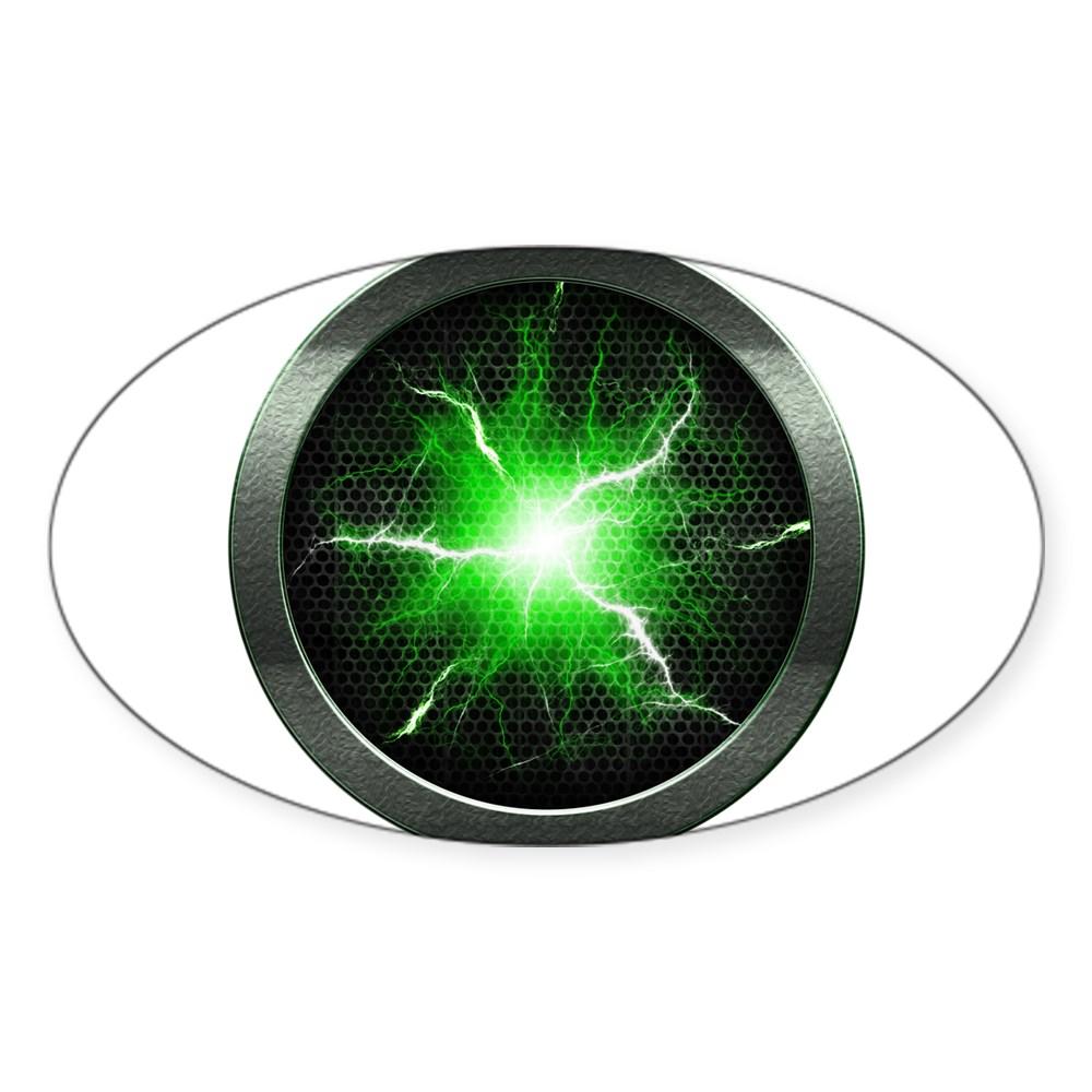 Borg Regeneration Disc Oval Sticker