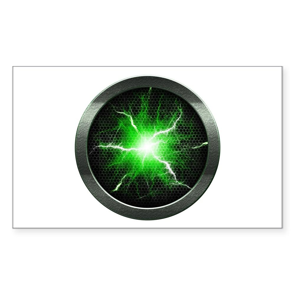 Borg Regeneration Disc Rectangle Sticker