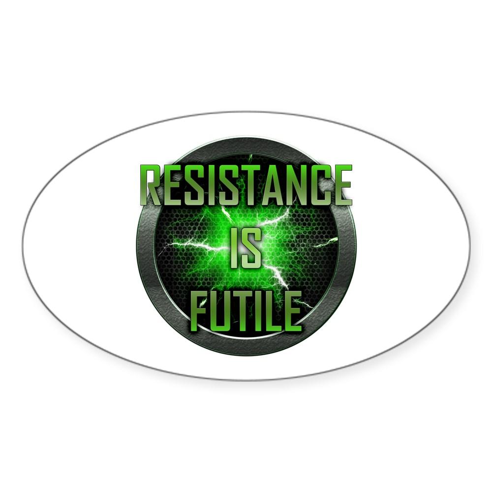 Resistance is Futile Oval Sticker