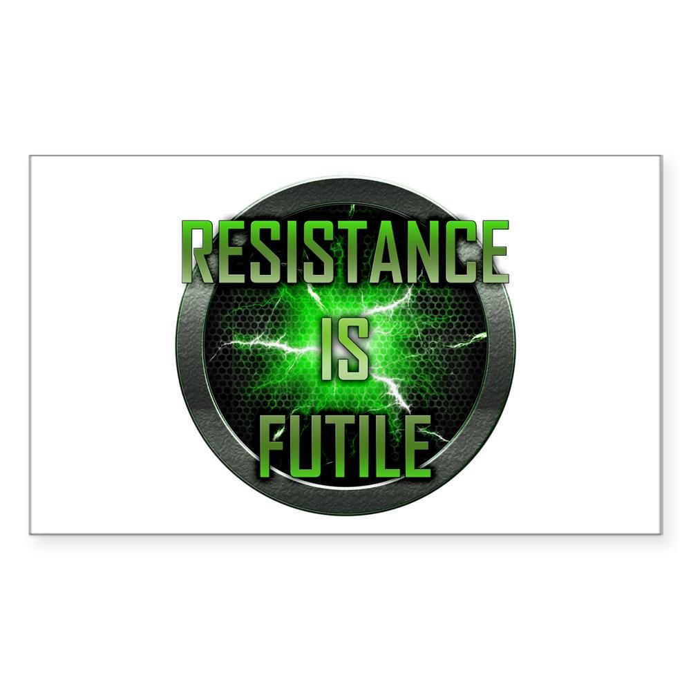 Resistance is Futile Rectangle Sticker