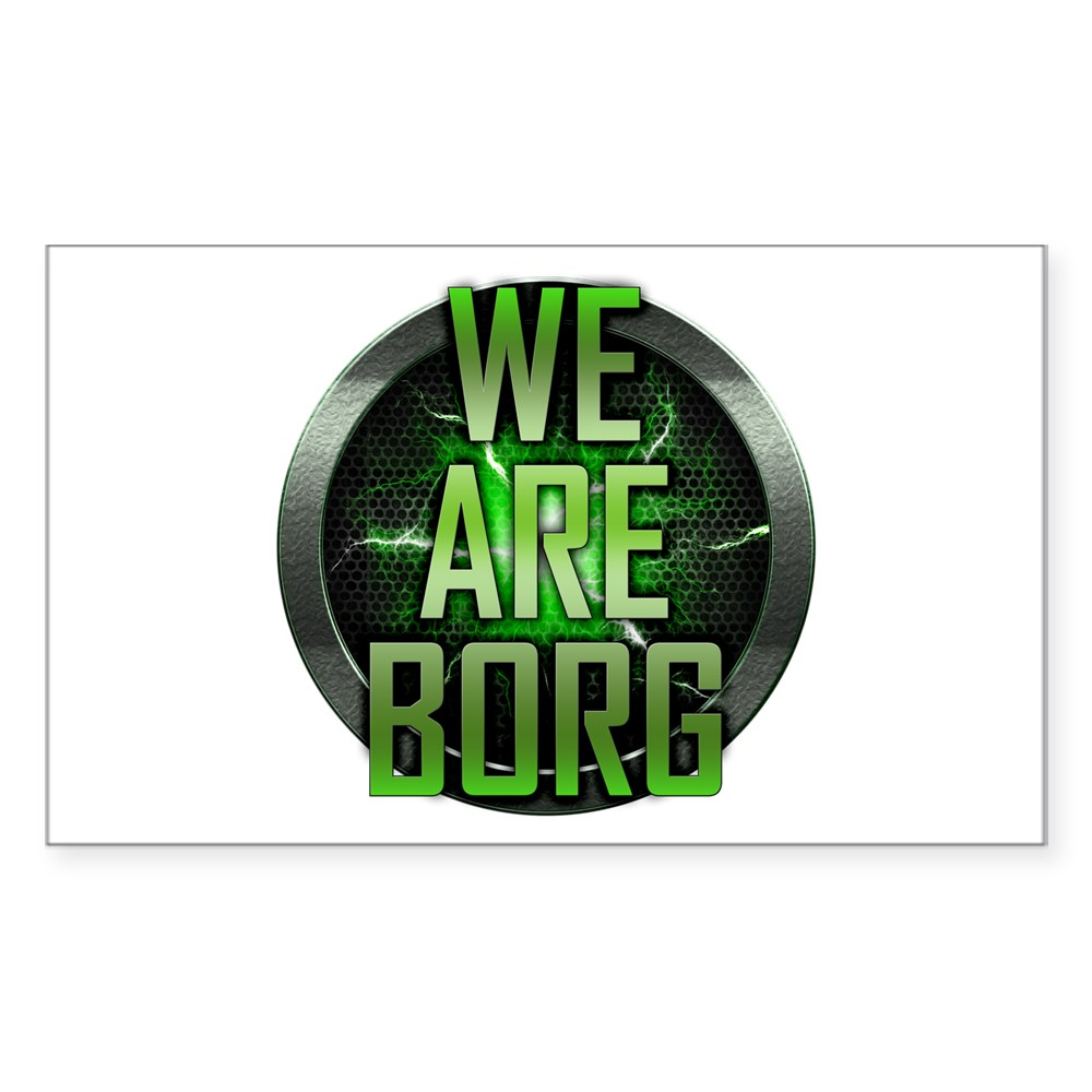We Are Borg Rectangle Sticker