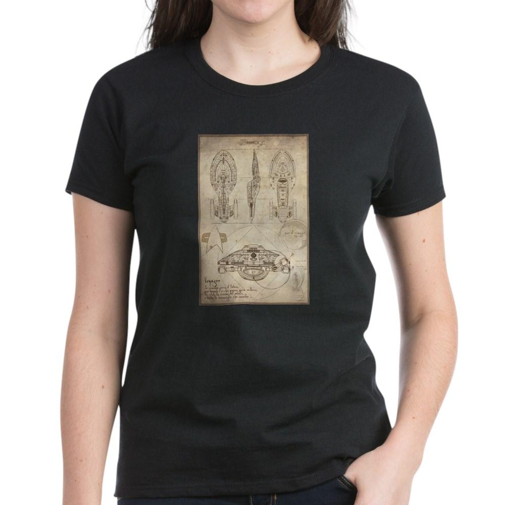 Da Vinci USS Voyager Women's Dark T-Shirt
