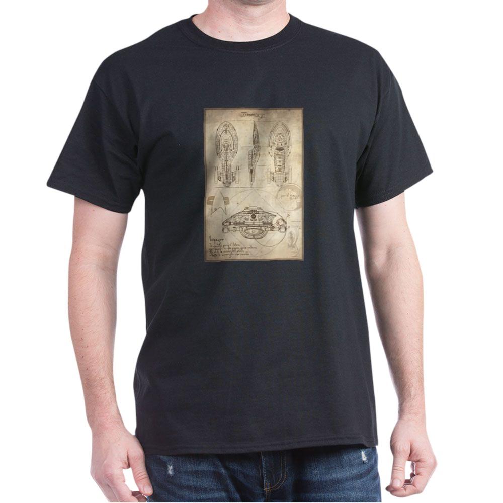 Da Vinci USS Voyager Dark T-Shirt
