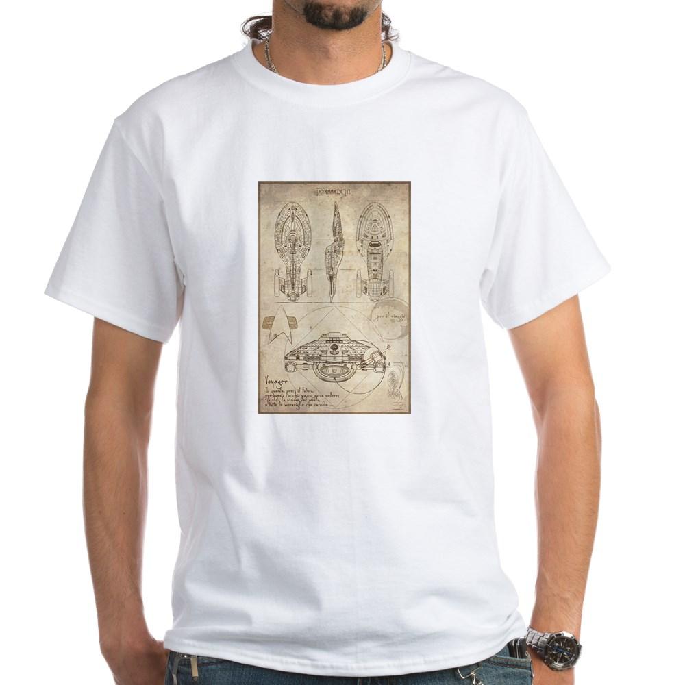 Da Vinci USS Voyager White T-Shirt