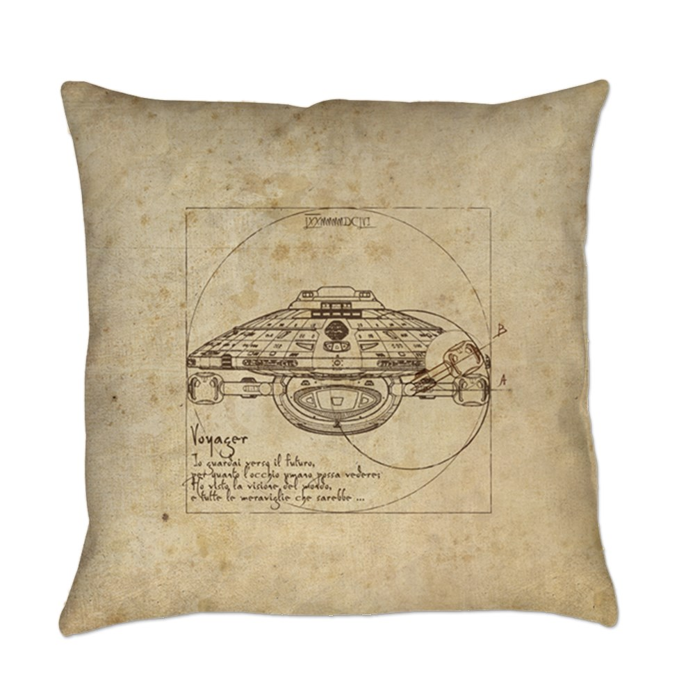 Vitruvian Voyager Everyday Pillow