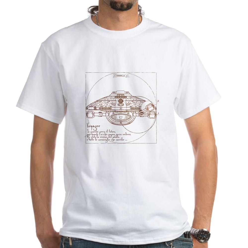 Vitruvian Voyager White T-Shirt