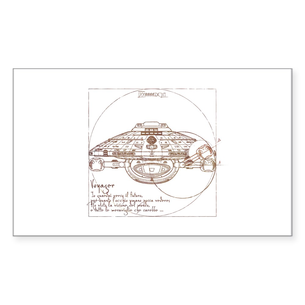 Vitruvian Voyager Rectangle Sticker