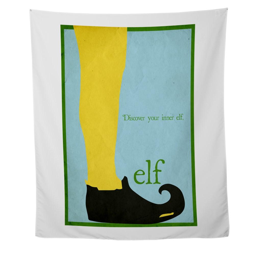 Elf Minimalist Poster Design Wall Tapestry