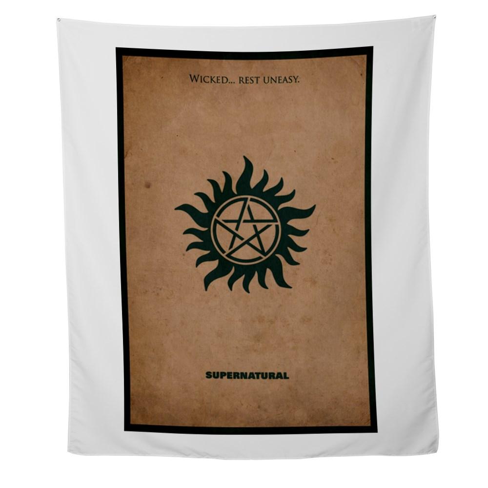 Supernatural MInimalist Poster Design Wall Tapestry