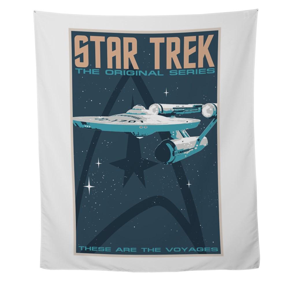 Retro Star Trek: TOS Poster Wall Tapestry