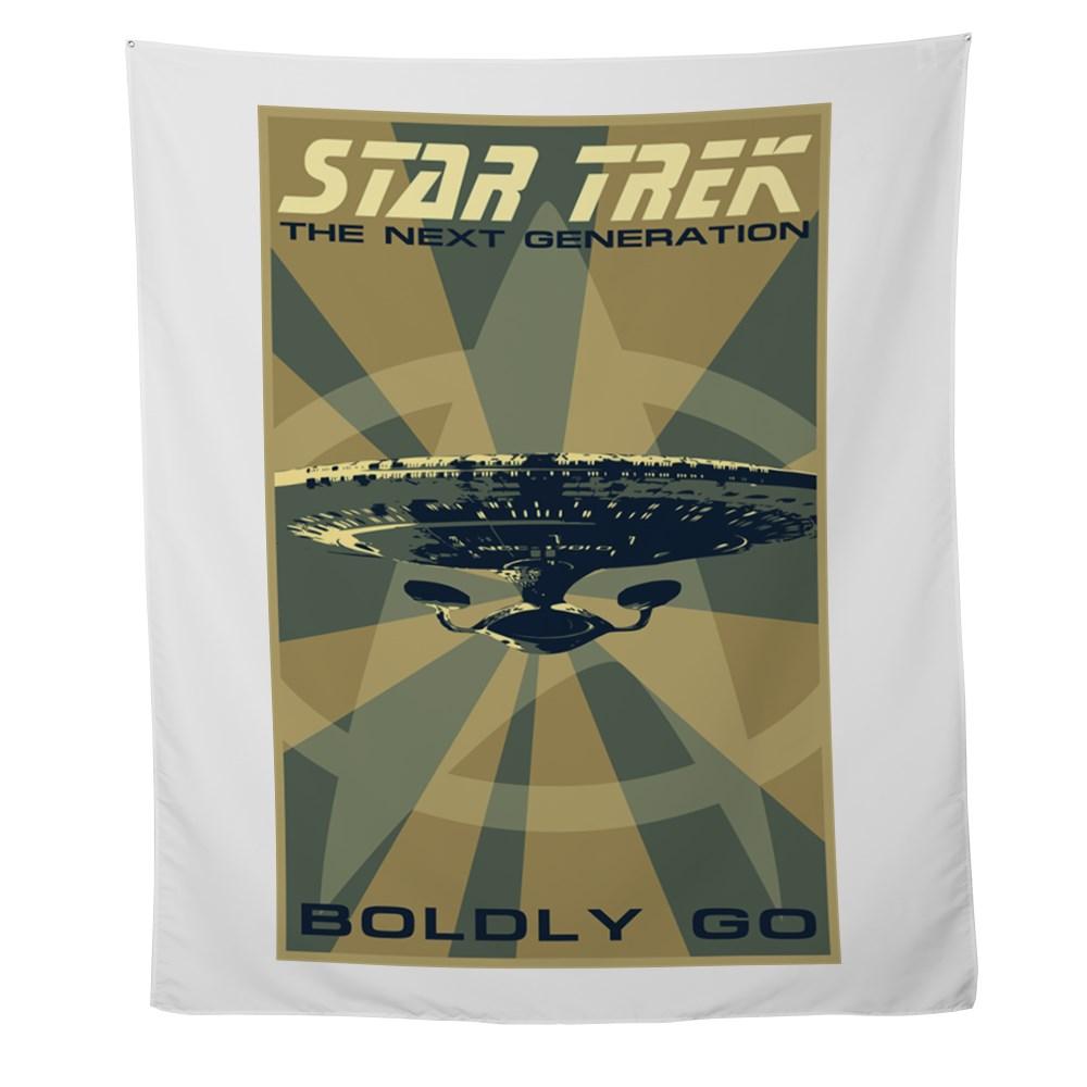Retro Star Trek: The Next Generation Poster Wall Tapestry
