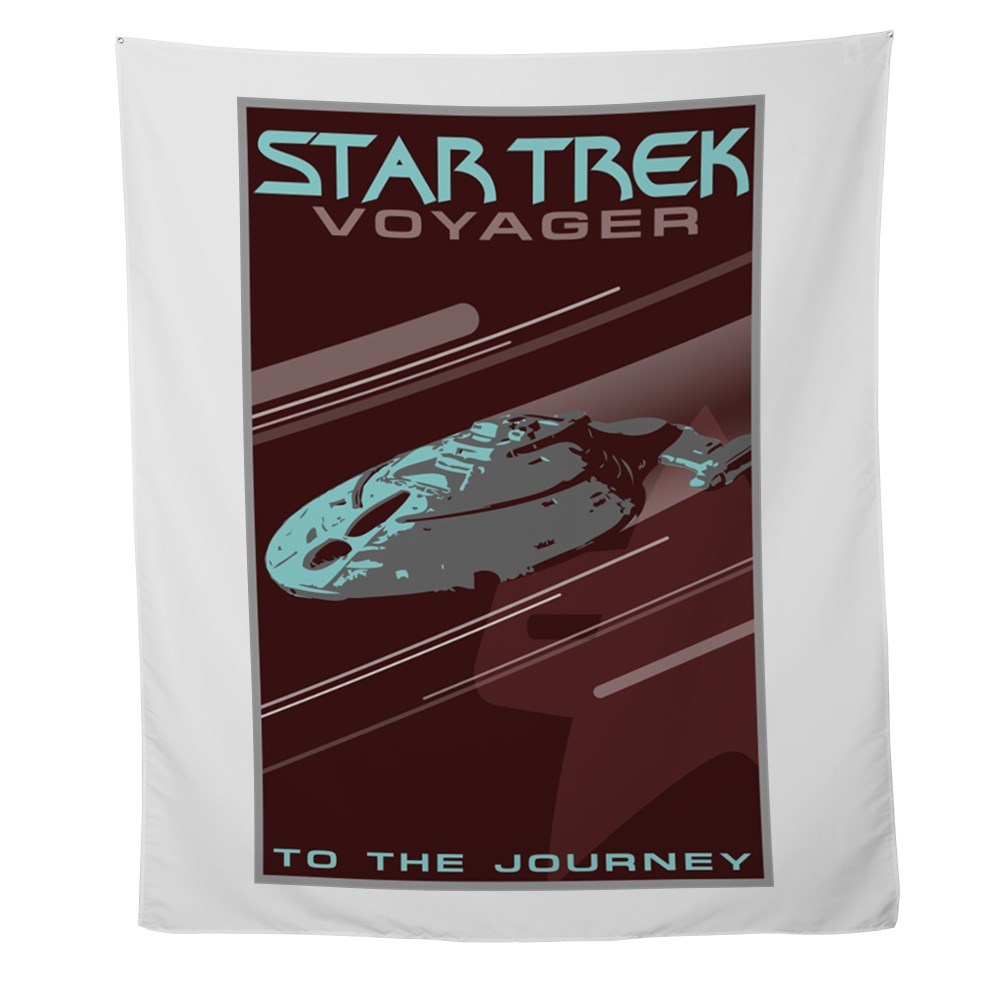 Retro Star Trek: Voyager Poster Wall Tapestry