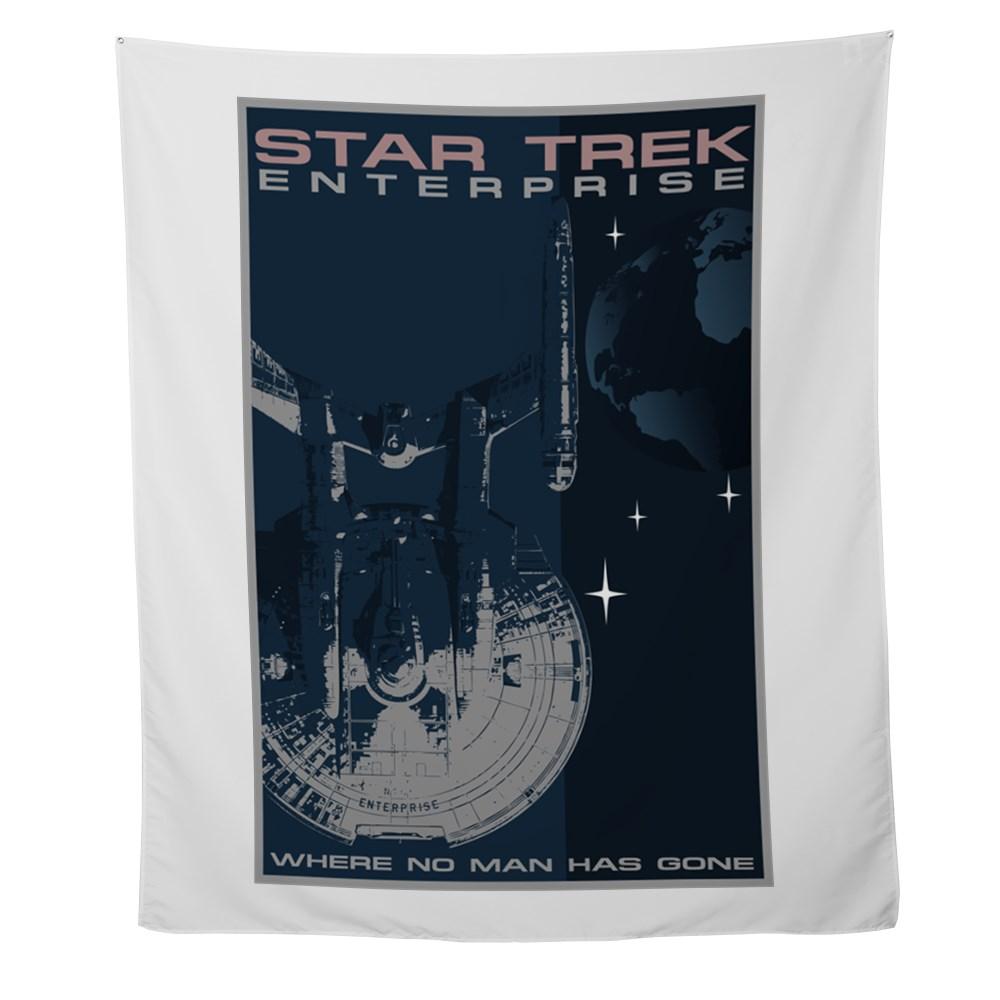 Retro Star Trek: Enterprise Poster Wall Tapestry