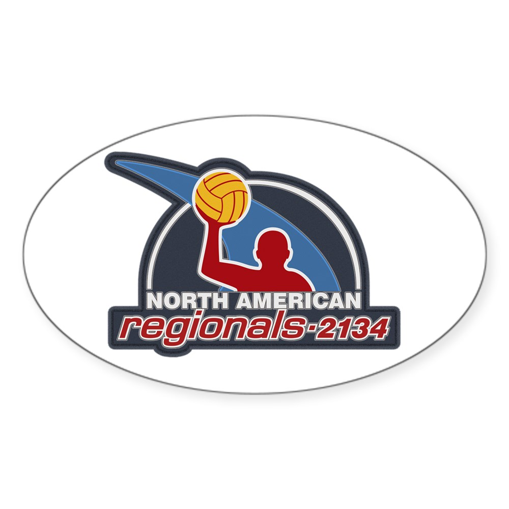 Water Polo North American Regional 2134 Oval Sticker