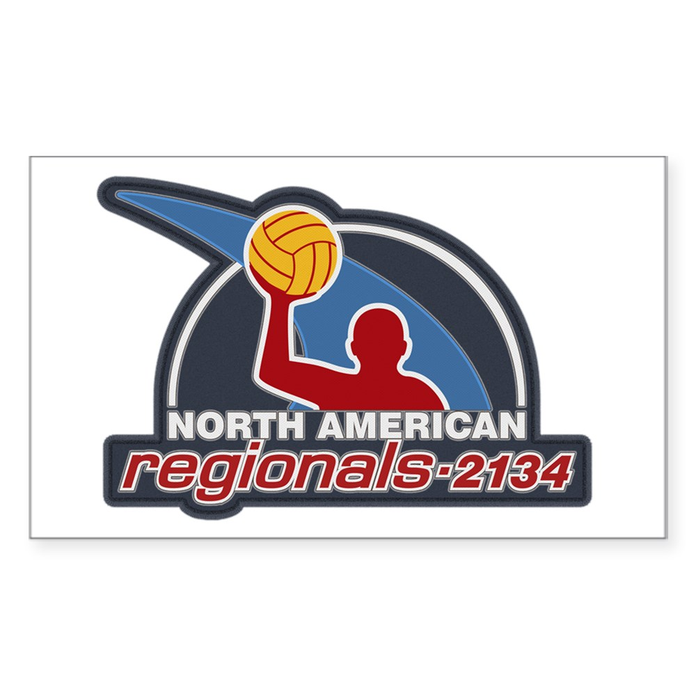 Water Polo North American Regional 2134 Rectangle Sticker