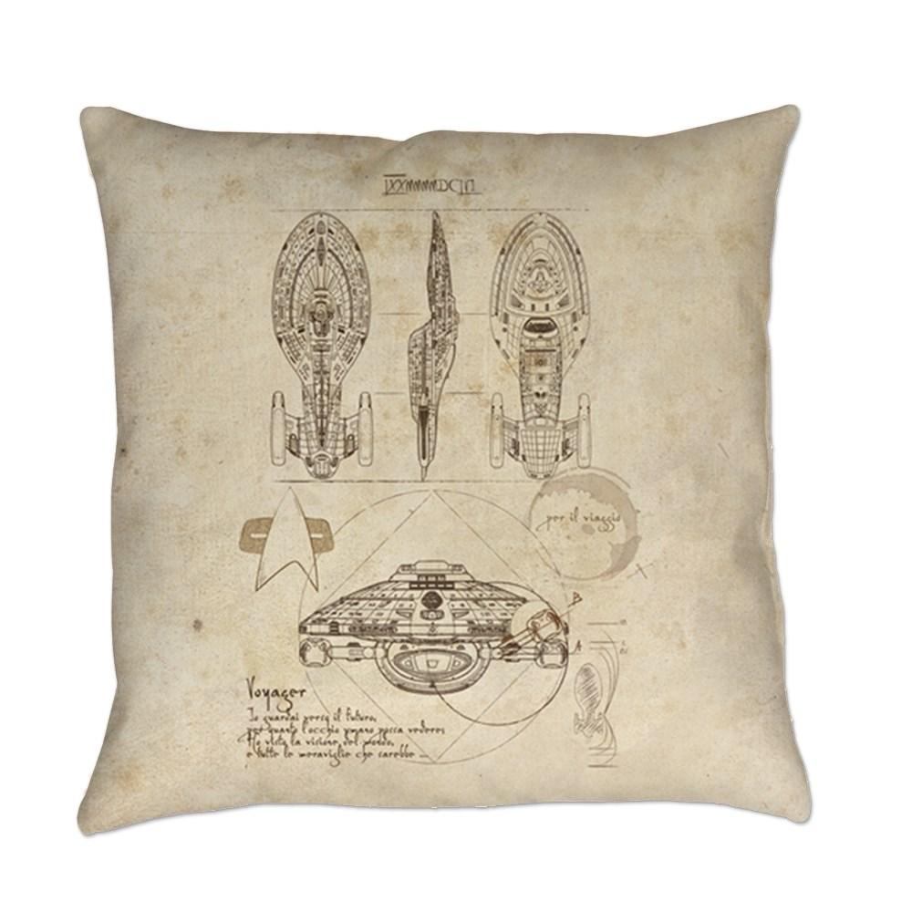 Da Vinci USS Voyager Everyday Pillow