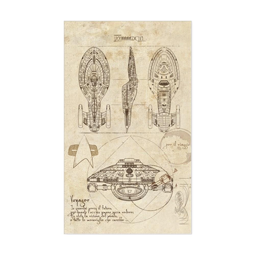 Da Vinci USS Voyager Rectangle Sticker