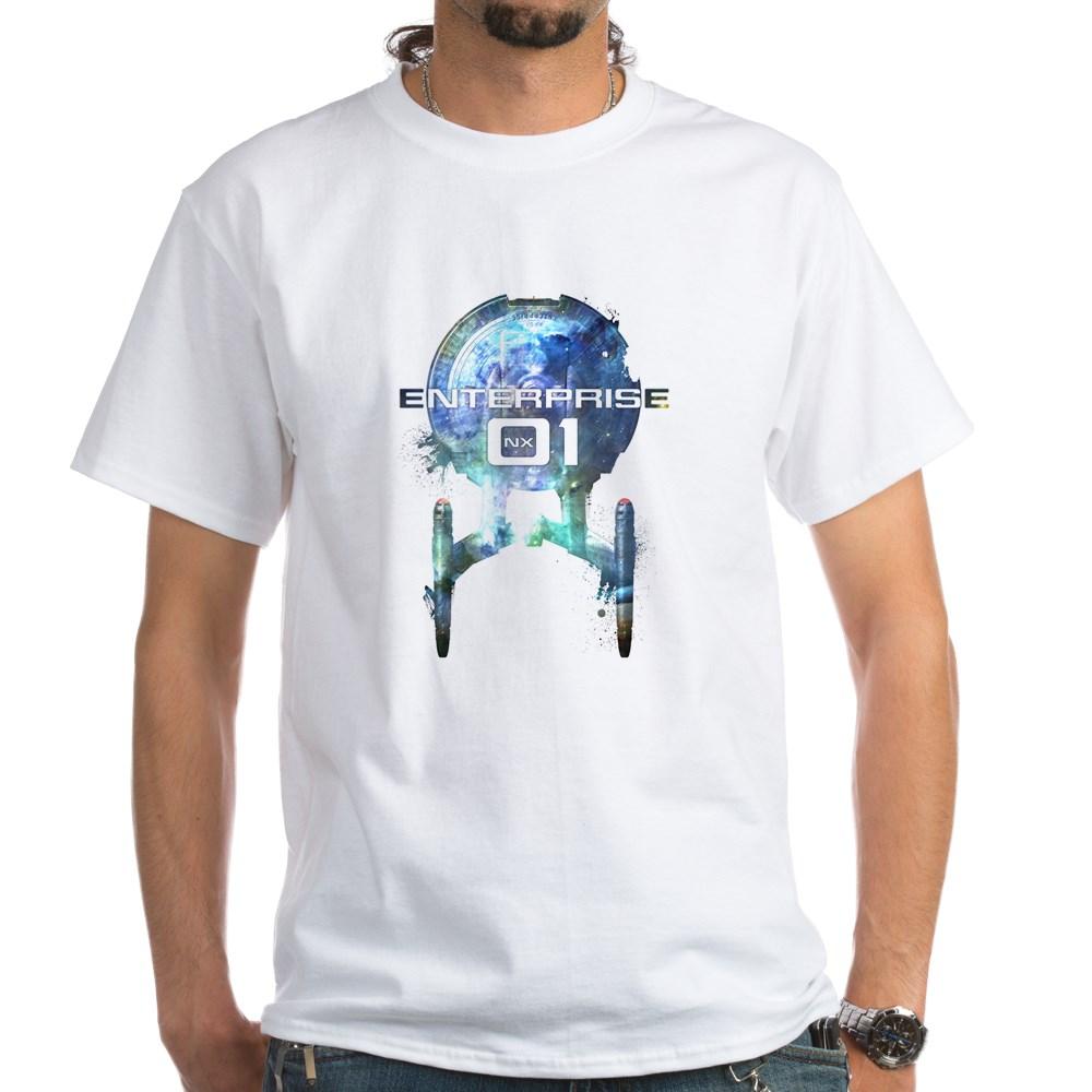 Cosmic Enterprise NX-01 White T-Shirt