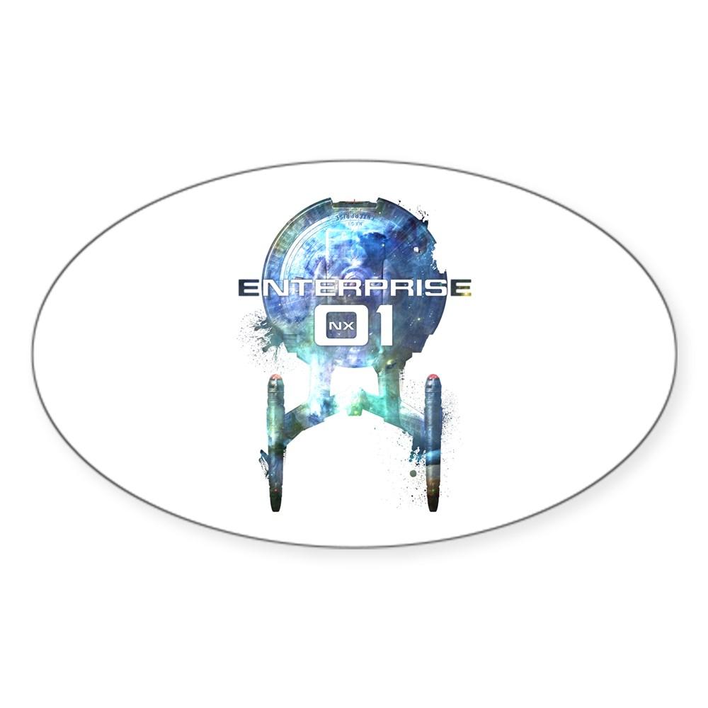 Cosmic Enterprise NX-01 Oval Sticker