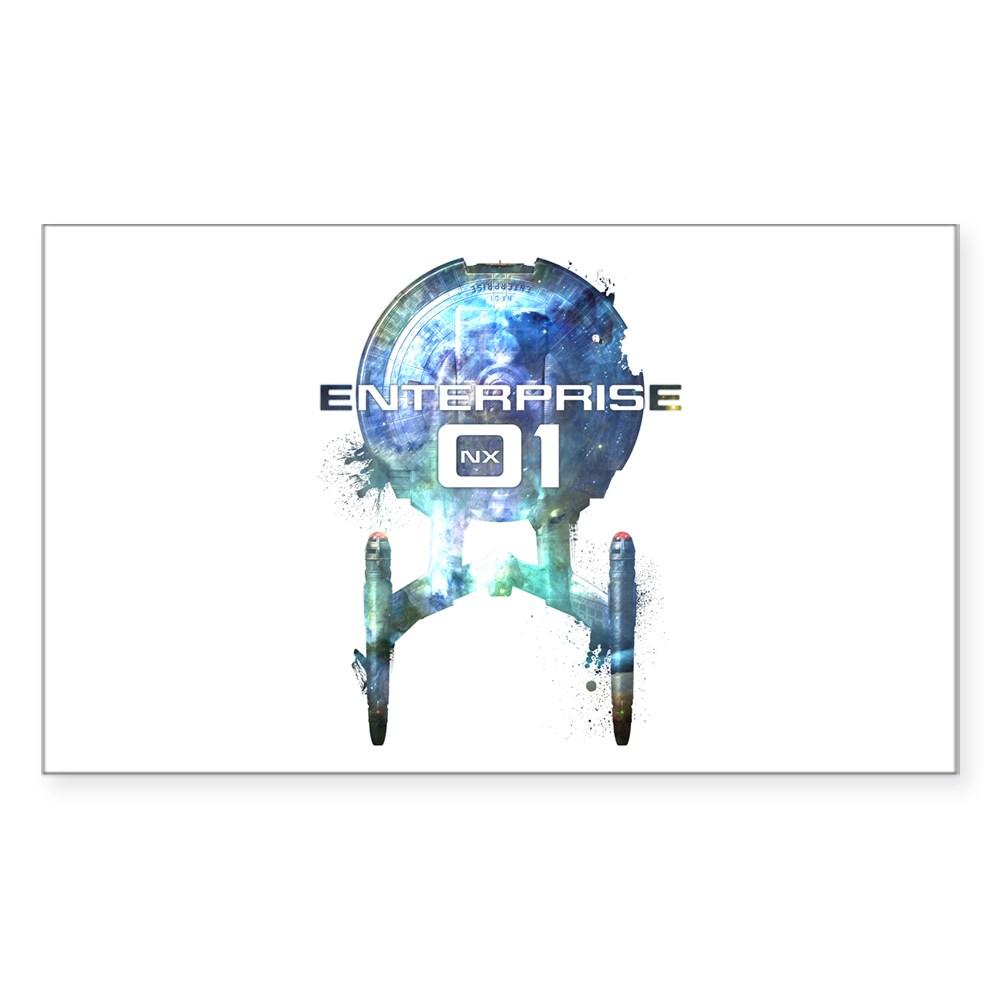 Cosmic Enterprise NX-01 Rectangle Sticker