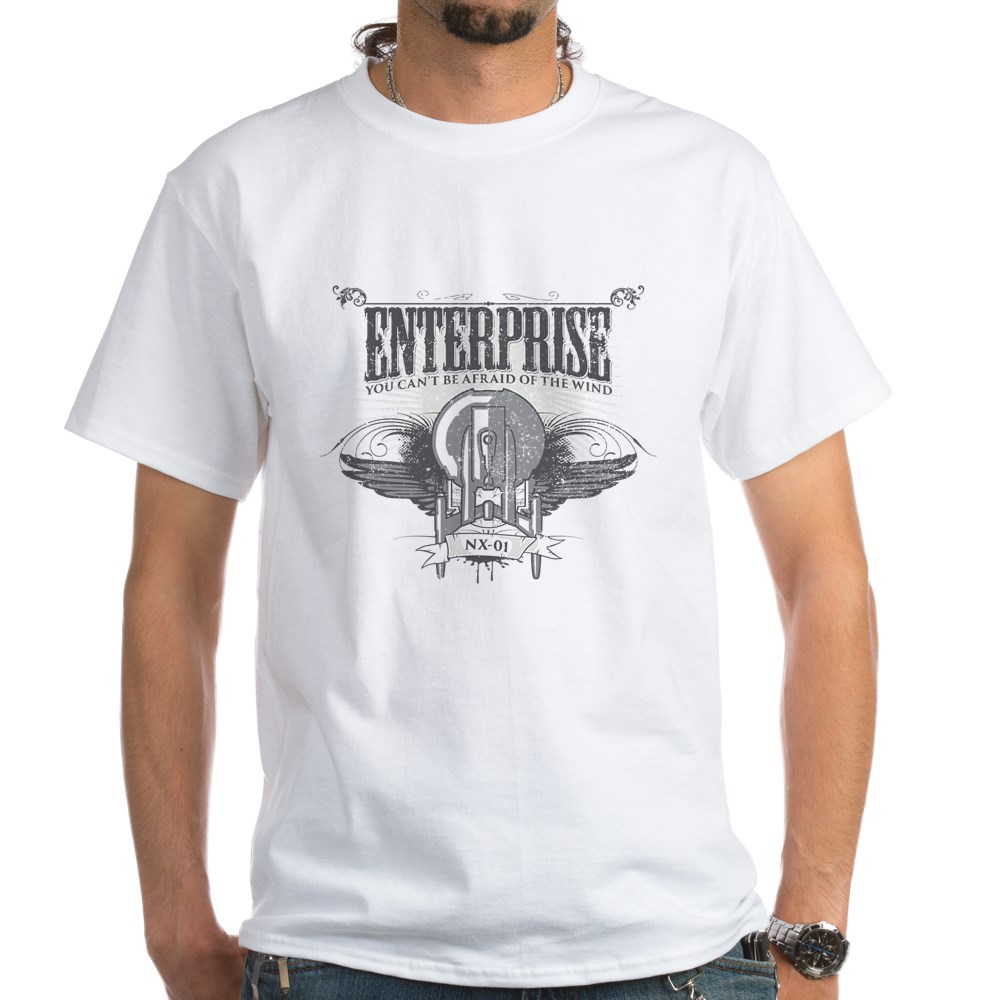 Afraid of the Wind Enterprise White T-Shirt