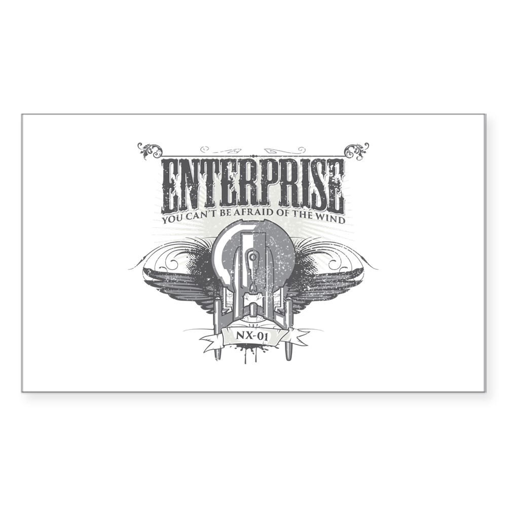 Afraid of the Wind Enterprise Rectangle Sticker