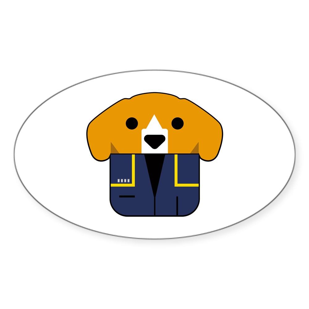 Captain Porthos Oval Sticker