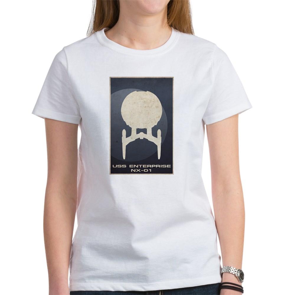 Minimal USS Enterprise NX-01Poster Design Women's T-Shirt