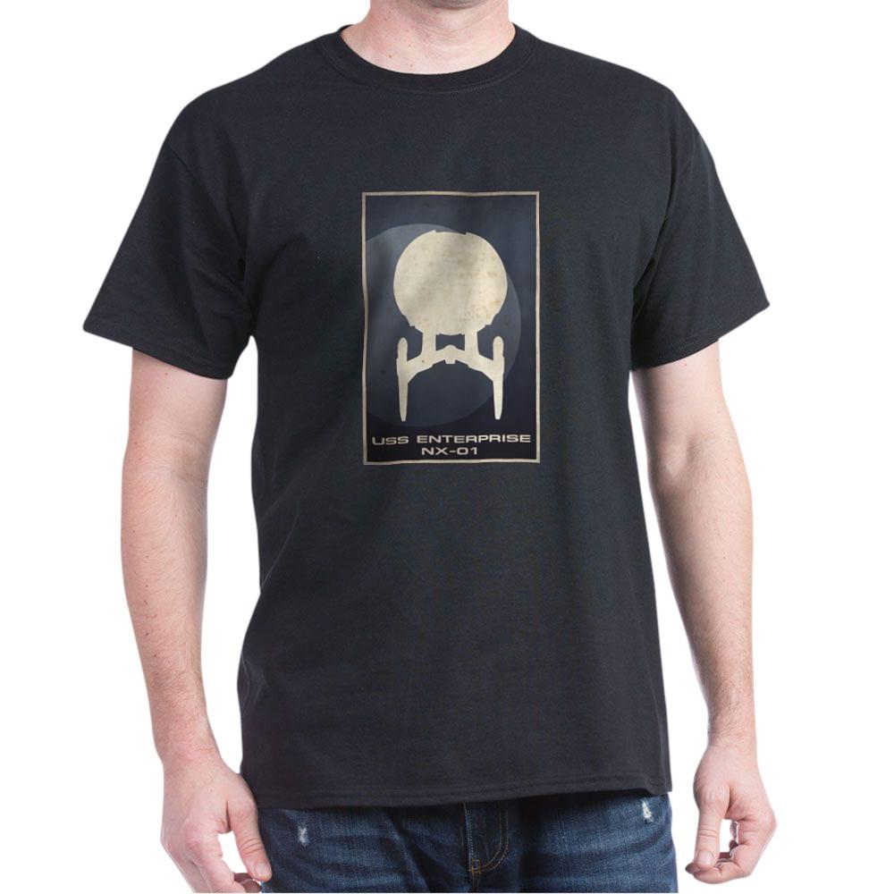 Minimal USS Enterprise NX-01Poster Design Dark T-Shirt
