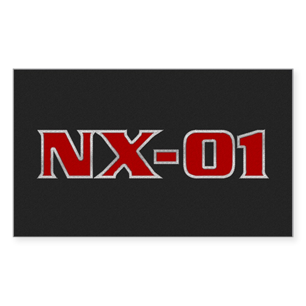 NX-01 Logo Rectangle Sticker