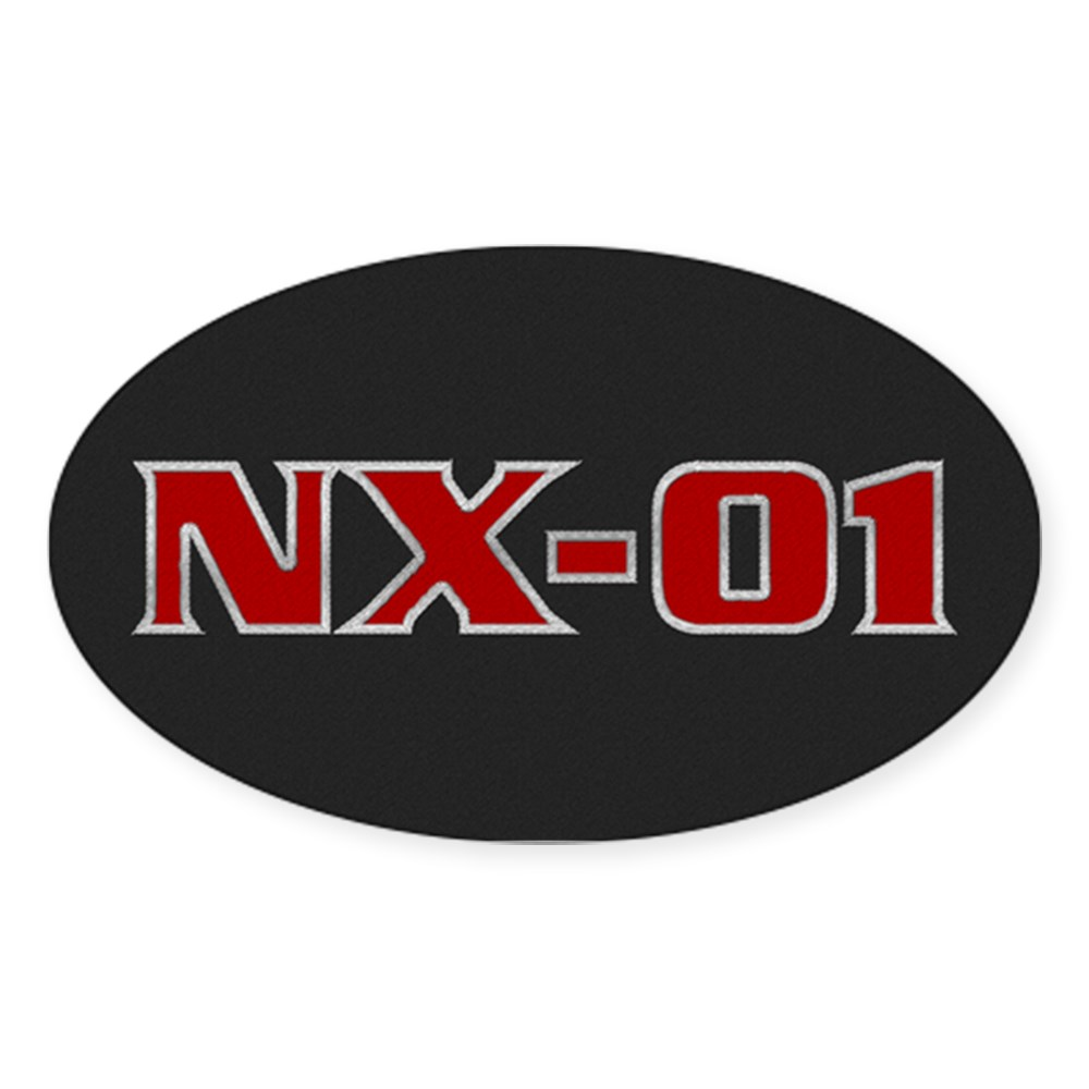 NX-01 Logo Oval Sticker