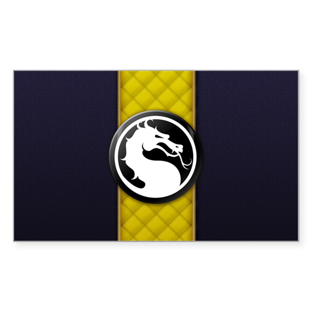 Mortal Kombat Logo - Scorpion Klassic Rectangle Sticker