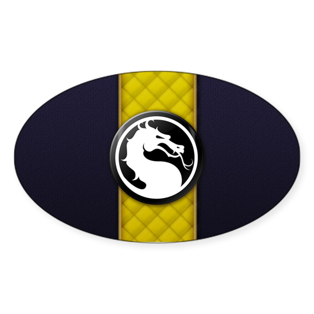 Mortal Kombat Logo - Scorpion Klassic Oval Sticker