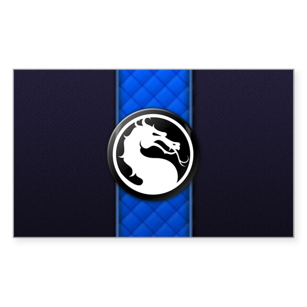 Mortal Kombat Logo - Sub-Zero Klassic Rectangle Sticker
