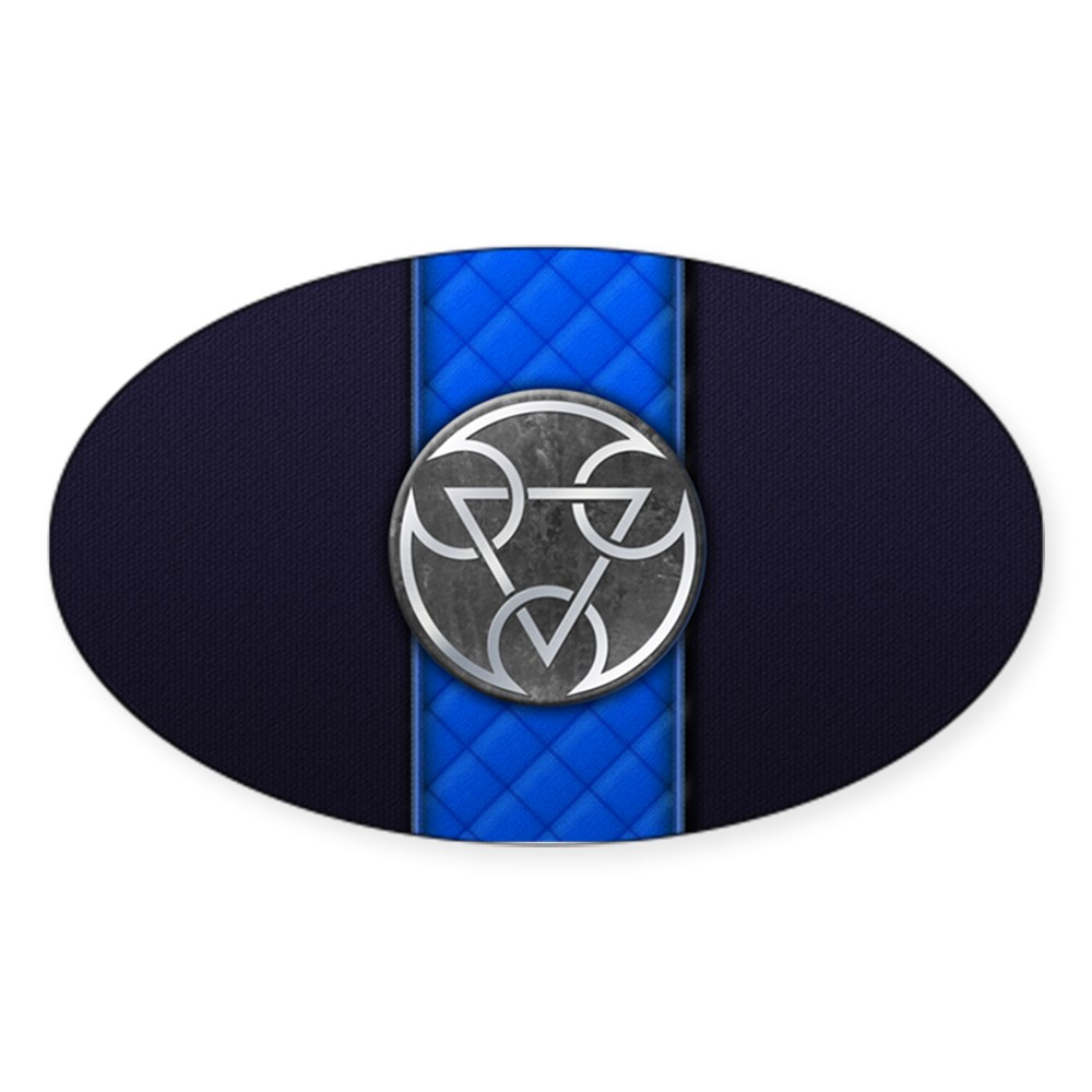 Mortal Kombat Lin Kuei Logo Oval Sticker