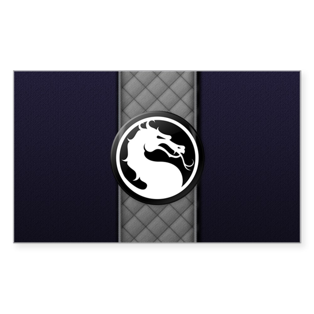 Mortal Kombat Logo - Smoke Klassic Rectangle Sticker